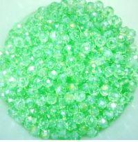 Perles crystal 3 x 4 mm Vert X 50