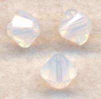Toupies boheme 3 mm  White opal X 100