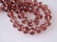 Perles cristal smoked topaz  3 x 4 mm X 200