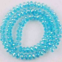 Perles blue   3x4mm