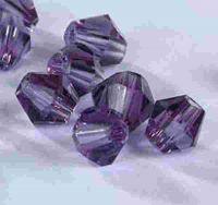 Toupies en crystal 3 mm Violet X 100
