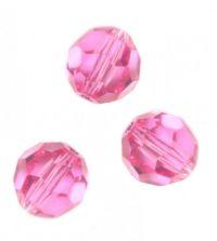 Perles cristal swarovski Rondes 5000 4 mm Rose Qte : 20