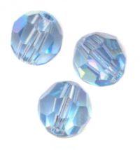 Perles cristal swarovski Rondes 5000 6 mm Aquamarine Qte : 6