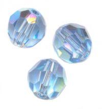 Perles cristal swarovski Rondes 5000 6 mm AQUAMARINE AB Qte : 6