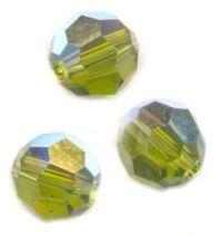 Perles cristal swarovski Rondes 5000 8 mm OLIVINE Qte : 6