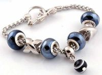 Bracelet perles lampwok 13 x 8 et trou 4.5 mm 20 cm