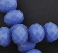 Rondelles briolettes 10 mm blue X 5