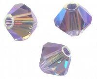 Perles toupies Swarovski 4mm  5328 TANZANITE AB2X X 50 perles
