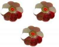Perles fleur Swarovski  light siam AB 6 mm ( 3700 ) X 10