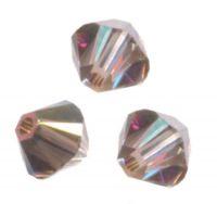 TOUPIES SWAROVSKI® ELEMENTS  6 mm AB CRYSTAL IRIDESCENT GREEN X 20 perles
