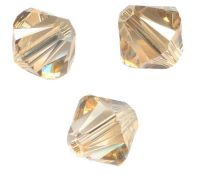 TOUPIES SWAROVSKI® ELEMENTS  6 mm AB CRYSTAL GOLDEN SHADOW X 20 perles