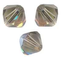 TOUPIES SWAROVSKI® ELEMENTS  6 mm AB  BLACK DIAMOND AB  X 20 perles
