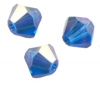 TOUPIES SWAROVSKI® ELEMENTS 6 mm AB CAPRI BLUE AB X 20 perles