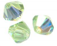 TOUPIES SWAROVSKI® ELEMENTS  6 mm AB CHRYSOLITE AB X 20 perles