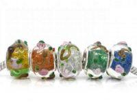 Mixte  Perles Lampwork , perles de Murano  14x10mm X 10