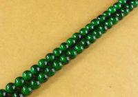 Perles rondes crystal 4 mm Diametre du trou 1 mm Dark green X 200
