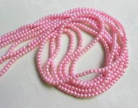 Perles rondes crystal 4 mm Diametre du trou 1 mm Rose X 200