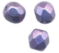 PERLES FACETTES DE BOHEME 4mm  Metallic Dark Purple X 100