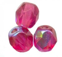 PERLES FACETTES DE BOHEME  6mm 25 perles FUSCHIA