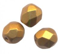 PERLES FACETTES DE BOHEME  3mm  BRONZE GOLD MAT X 100