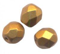 PERLES FACETTES DE BOHEME 4mm  BRONZE GOLD MAT X 100