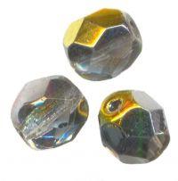 PERLES FACETTES DE BOHEME  6mm AB 25 perles CRYSTAL MAREA