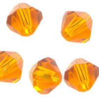 Toupies en crystal 4 mm sun AB X 100
