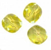 PERLES FACETTES DE BOHEME 6mm AB 25 perles JONQUIL AB