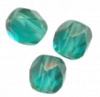 PERLES FACETTES DE BOHEME 6mm 25 perles EMERALD