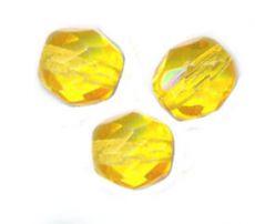 PERLES FACETTES DE BOHEME  6mm 25 perles CITRINE