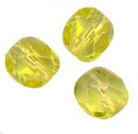 30 facettes de boheme jonquil 10 perles 10 mm 20 perles 8 mm