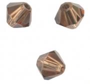 TOUPIES SWAROVSKI® ELEMENTS  4 mm LIGHT SMOKED TOPAZ satin 50 perles