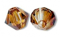 TOUPIES SWAROVSKI® ELEMENTS 4 mm  CRYSTAL COPPER X 50