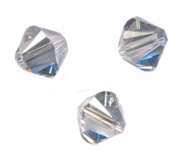 20 Perles Toupies 4mm Cristal Swarovski CRYSTAL HELIOTROPE