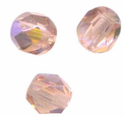 *100 PERLES FACETTES DE BOHEME 4 mm CRYSTAL ROSE   Preciosa  **