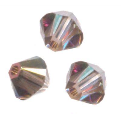 Nouveauté 20 Perles Toupies 4mm Swarovski  CRYSTAL ANTIQUE PINK  5328 XILION