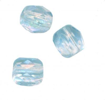 150 Perles de bohème facette 5 mm Tchèque coloris Cristal AB