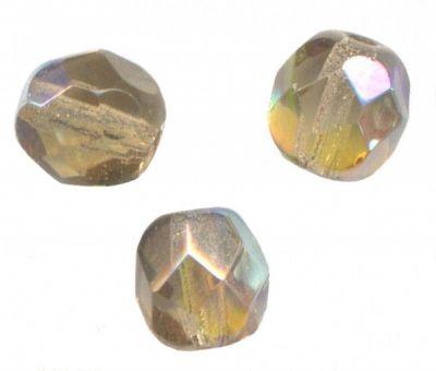 **100 PERLES FACETTES DE BOHEME 4 mm BLACK DIAMOND AB**