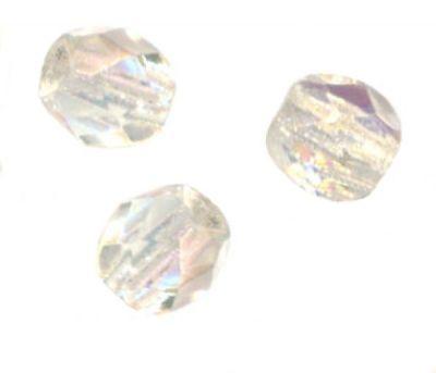 25 Perles Facettes cristal de boheme 6mm CRYSTAL AB