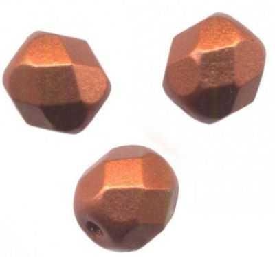 150 Perles de bohème facette 5 mm Tchèque coloris Dark Topaz AB