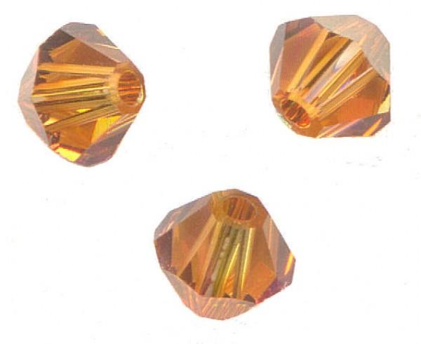 **50 perles toupies 3 mm AB SWAROVSKI CITRINE AB 5328 **