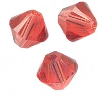 TOUPIES SWAROVSKI® ELEMENTS  6MM  PADPARADSCHA X 20 perles