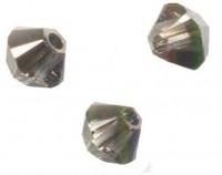 TOUPIES SWAROVSKI® ELEMENTS  4mm AB  CRYSTAL SILVER NIGHT X 50 perles