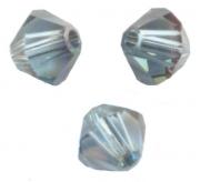 TOUPIES SWAROVSKI® ELEMENTS  4mm AQUAMARINE satin 50 perles