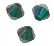 TOUPIES SWAROVSKI® ELEMENTS  4mm EMERALD satin 50 perles