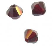 TOUPIES SWAROVSKI® ELEMENTS  4mm GARNET satin 50 perles
