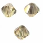 TOUPIES SWAROVSKI® ELEMENTS <br /> 4mm<br />  JONQUIL satin<br /> 50 perles