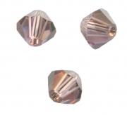 TOUPIES SWAROVSKI® ELEMENTS  4mm LIGHT AMETHYST satin 50 perles