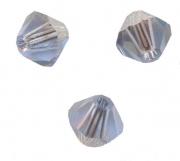 TOUPIES SWAROVSKI®ELEMENTS  4mm LIGHT SAPPHIRE satin 50 perles