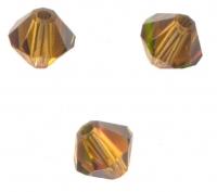 TOUPIES SWAROVSKI® ELEMENTS  4mm TOPAZ satin 50 perles